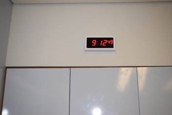 Digital Clock in a Classroom