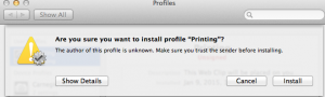 Printing from OSX9