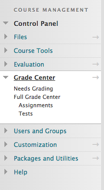 The grade center-1